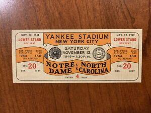 1949-Notre-Dame-v-North-Carolina-Full-Ticket-National-Champions-Yankee-Stadium