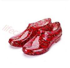 Damen Schuhe Stiefel Gummistiefel Regen Mehrfarbig Rot Wassidicht Herbste