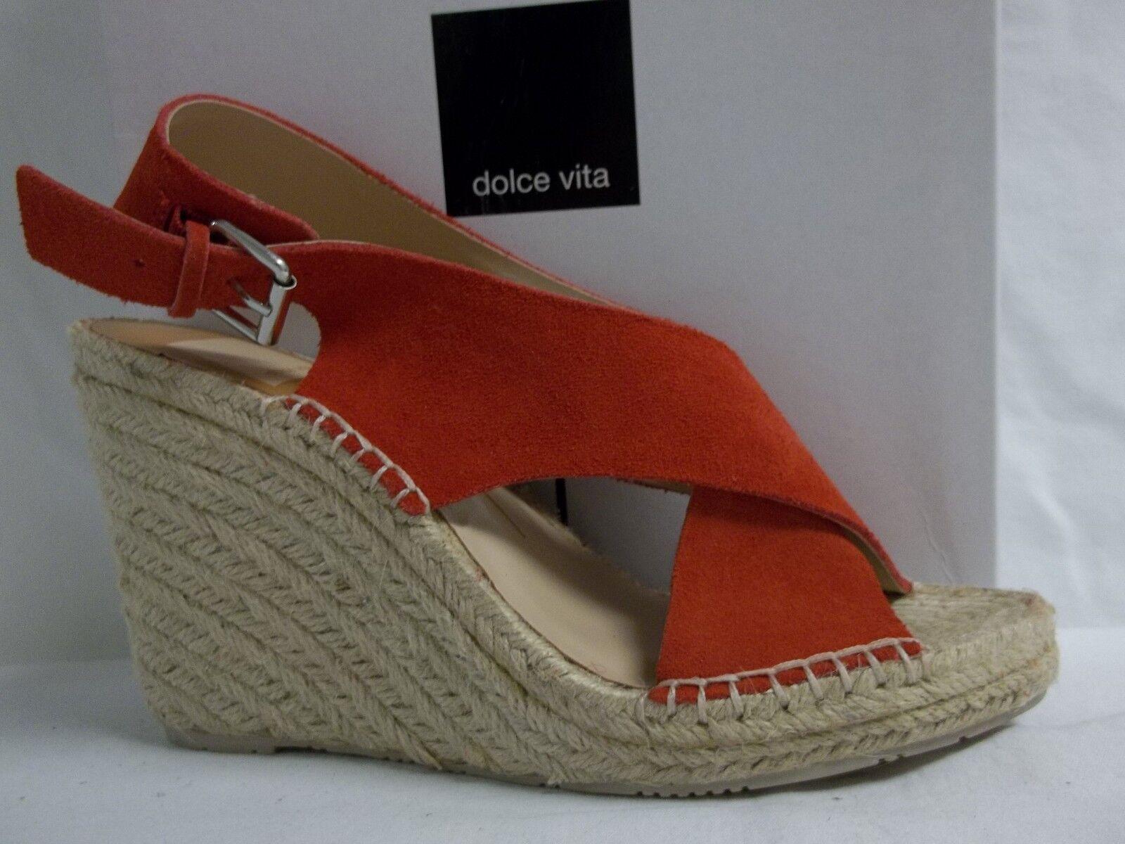 Dolce Vita Größe 8.5 M Sovay Coral Suede Slingbacks Wedges NEU Damenschuhe Schuhes