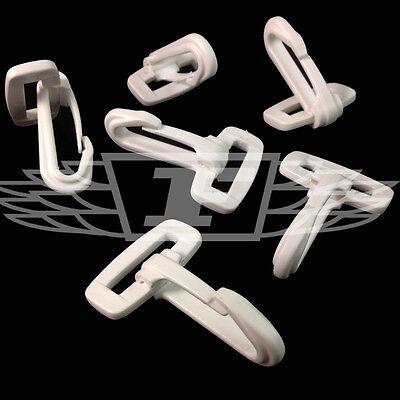 White Dog Hooks Plastic Snap Clips For Webbing 25mm Clip, Sport, Straps, Hook Yet Not Vulgar