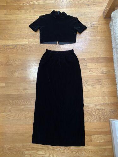 Reformation RECLAIMED VINTAGE Velvet Blend Skirt C