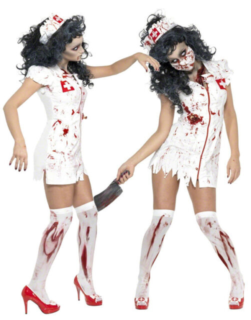 Halloween Adult Ladies Zombie Fancy Dress Costume Womens New Zombies Outfit