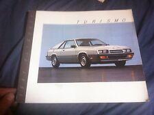 1987 Plymouth Horizon Turismo Original Color Brochure Catalog Prospekt