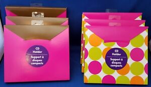 6-CD-Holder-Boxes-by-Expressions-From-Hallmark-for-Shipping-or-Gift-Wrapping-NEW