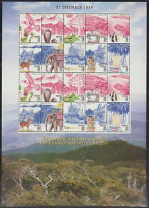 248S-MALAYSIA-1999-CELEBRATE-THE-NEW-MILLENNIUM-SHEETLET-OF-2-SETS-FRESH-MNH