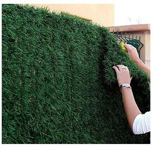 Siepe finta artificiale muro erba ciuffi edera lauro green for Siepe edera artificiale