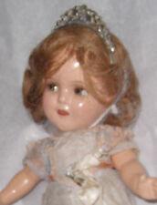 """Vintage 1930s 13"""" Composition Ginger Cinderella Flirty Eyes Orig Costume / Crown"""