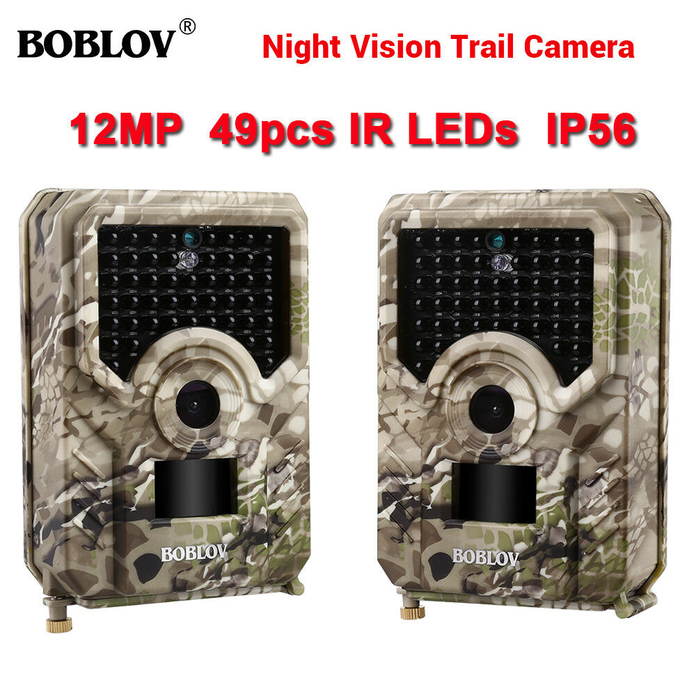 2 paquete de caza 1080P Cámara Trail Impermeable 49 un. IR LED 110 ° PIR Cámara de animales
