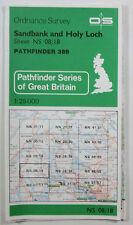 1982 old OS Ordnance Survey 1:25000 Pathfinder map Sandbank Holy Loch NS 08/18