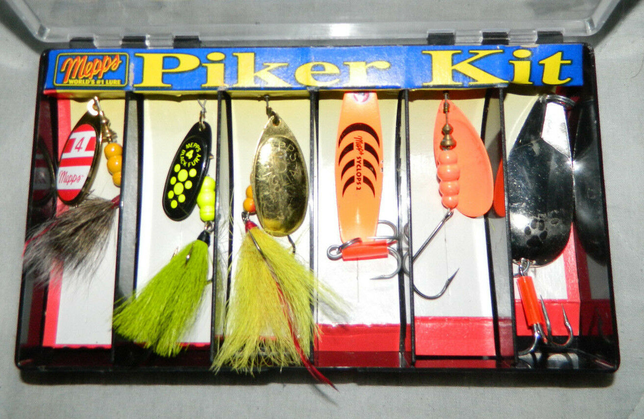 colorful MEPPS World's Lure DRESSED PIKER KILLER KIT In The Original Box