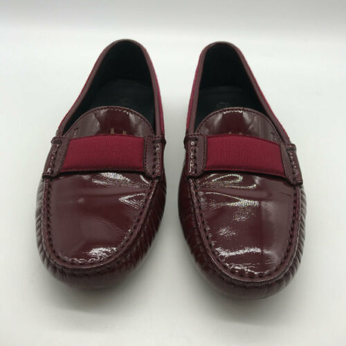Tod's Red Patent Loafers Size 6