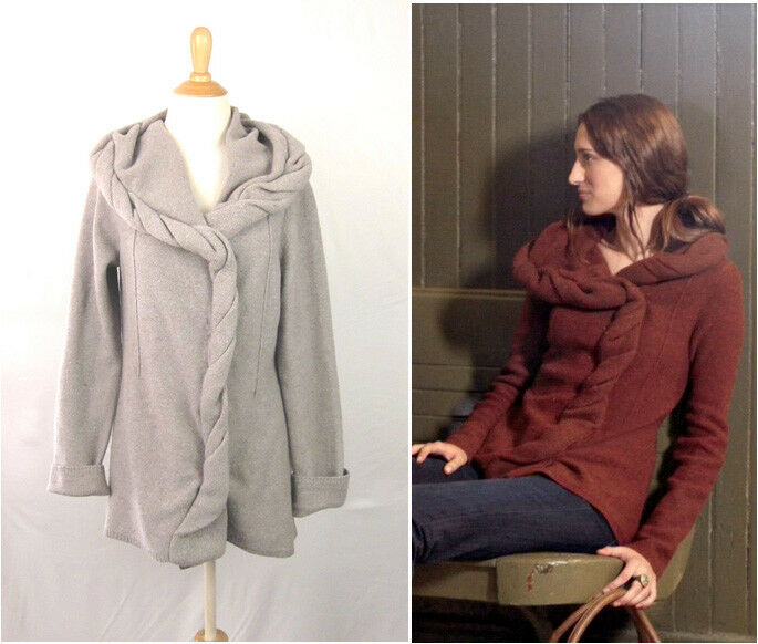 Anthropologie Charlie & Robin Branch & Bough Cardigan L Taupe Twist Front