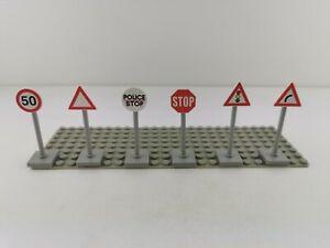 Lego® City Verkehrsschilder 6 Stück Verkehrszeichen Schilder für Straße Auto
