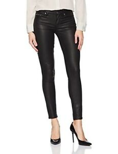 Sz look Sexy Black Oily Legging Klein Calvin Women's 29 Leather Jean Nwt OBCvx
