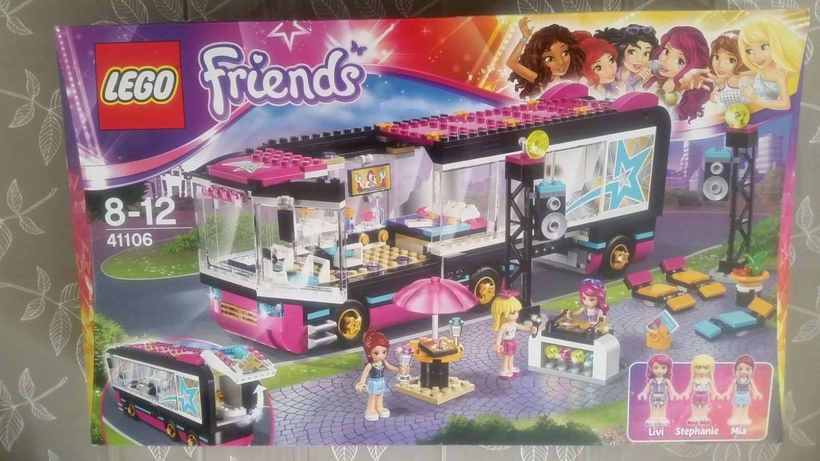 LEGO Friends Pop Star Tour Bus 41106-NUOVO e SIGILLATO