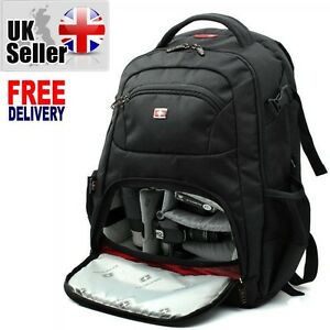 Swiss Gear Backpack DSLR SLR TLR Digital Camera Bag 16 inch Laptop ...