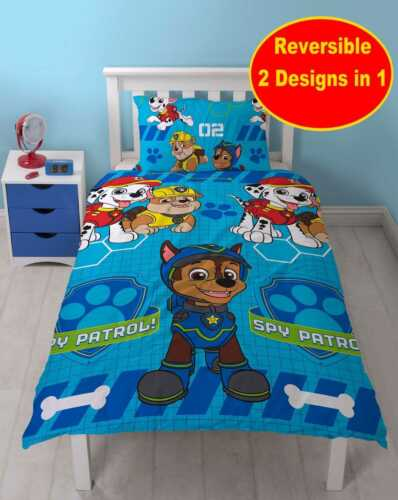 NEW PAW PATROL DUVET QUILT COVER SET GIRLS BOYS IN SINGLE DOUBLE COT BED SIZE