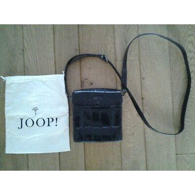 JOOP kl. Umhängetasche Vintage Tasche 80er braun kroko Impressionen