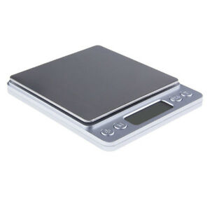 2-Trays-Jewelry-Scale-Digital-Mini-Food-Gold-Weighing-Stainless-steel-Portable