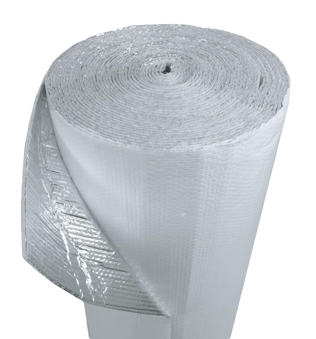 US Energy 400sqft (48  x 100') Double Bubble White Reflective Foil Insulation