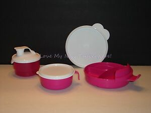 Tupperware Baby Stages Feeding Set Dish Formula Dispenser