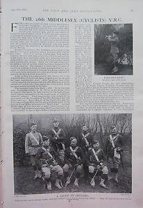 1902 Imprimé ~26ème Middlesex V. R.c Cyclistes Officiers Nommé Signalisation e7LUe28V-08054302-651037288