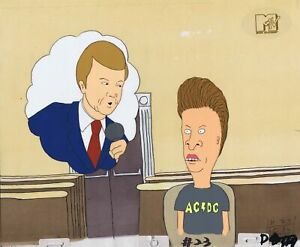 Beavis & Butt-Head Original 1990's Production Cel Animation Art Court Room