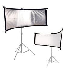Rund-Reflektor Halter 2-in1 SET weiß & silber 66x180 Fotostudio-Aufheller Panel