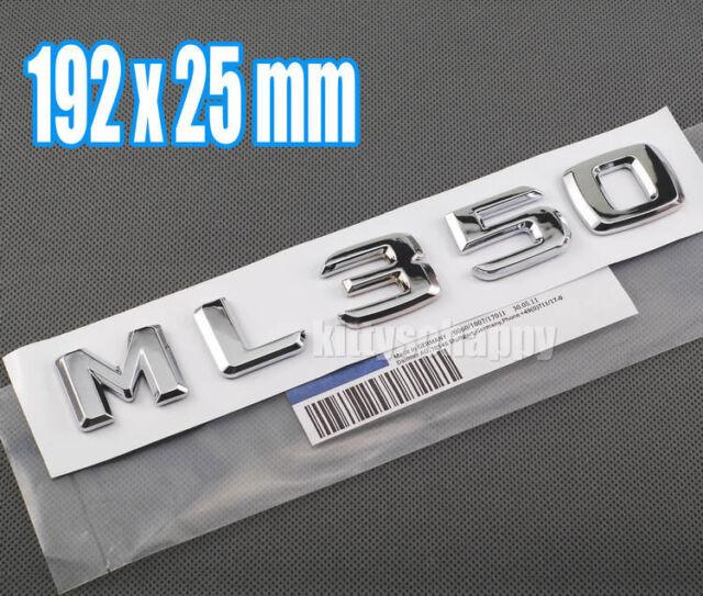 3D Chrome Number Trunk Rear Letter Emblem Decal Sticker for Mecedes Benz ML350
