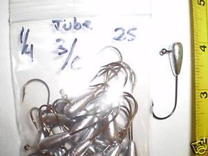 1-4-tube-jig-heads-3-0-eagle-cl-hooks-25pk-bass-walleye