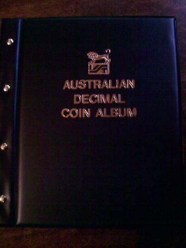 VST AUSTRALIAN DECIMAL COIN ALBUM 1966 to 2016 BLACK COLOUR Binder with MINTAGES