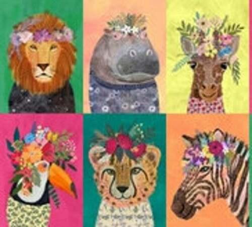 Blend fabrics Baumwolle junglemania Mia Panel