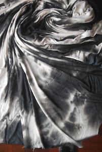 efc8dee36f3 Tie-Dye Rayon Spandex Jersey Knit Fabric Beautiful Black/white large ...