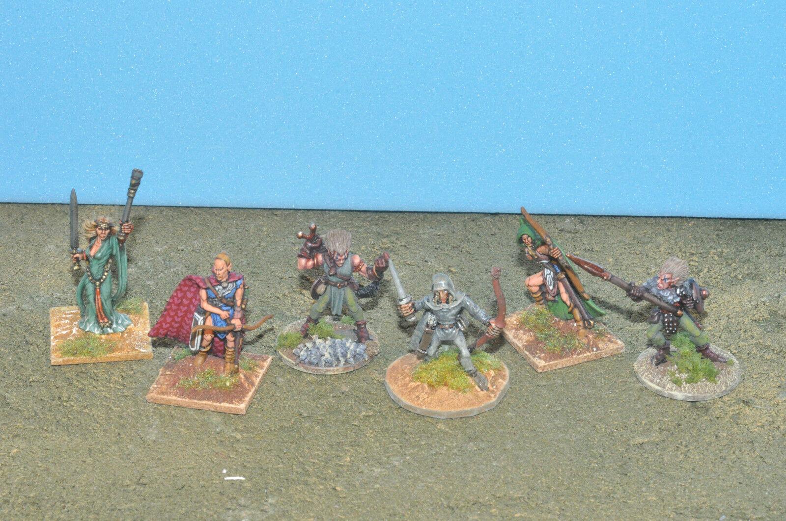 Wood elfs 6 heroes special characters metal d&d warhammer fantasy sigmar  (8637)