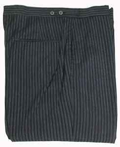 Hickory Stripe Victorian Formal Pants Cutaway Trousers Damaged Theater Costume