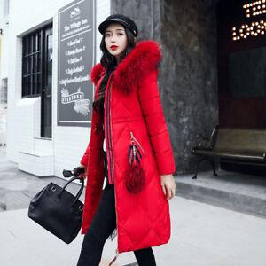 Giacca 1273 Cappotto Piumino Caldo Elegante Rosso Lungo Comodo Cappuccio Donna zvr6xz