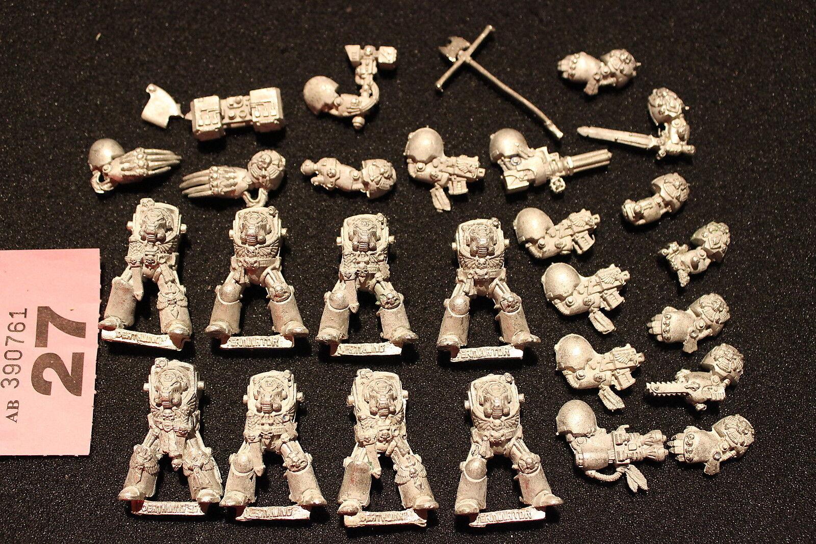 Warhammer 40k space marines terminators métal x8 figures job job job lot games workshop 1e3ffd