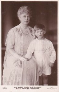 R1140-Royalty-Queen-Mary-amp-her-Grandson-Hubert-Lascelles-photocard