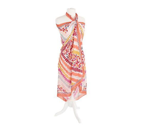 VERA BRADLEY Oversized Scarf SARONG Wrap PIXIE TRIBAL Pool Beach Cover Up Dress!
