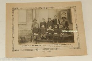 Photographie-CLASSE-D-039-ECOLE-1921-1922-a-SAINT-CYR-Photo-F-BONNEAU