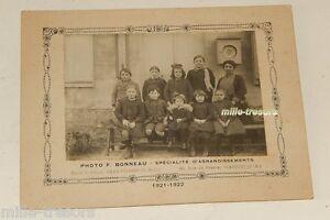 Photographie-CLASSE-D-039-ECOLE-1921-1922-a-SAINT-CYR-Photo-F-BONNEAU