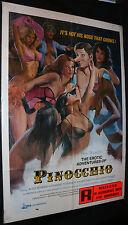 The Erotic Adventures of Pinocchio Adult Film Poster (C-6) 1971