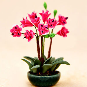 Blumendekoration-Traumhaus-Neu-1-12-Puppenhaus-Miniatur-Staffelei-Topfpflanze