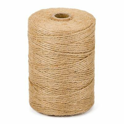 3Ply 2mm 1m-900m Natural Brown Soft Jute Twine Sisal String Rustic Shabby Cord