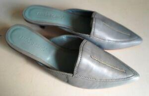 SANDRO-CARRA-Womens-Italian-Slip-On-Shoes-EU37-UK4-Leather-Hand-Made-Blue