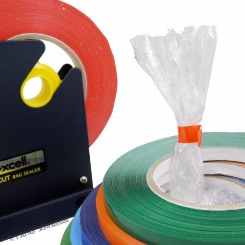 Free Shipping 6 Rolls Light Blue Bag Sealing Poly Tape 3//8 inch x 180 yards