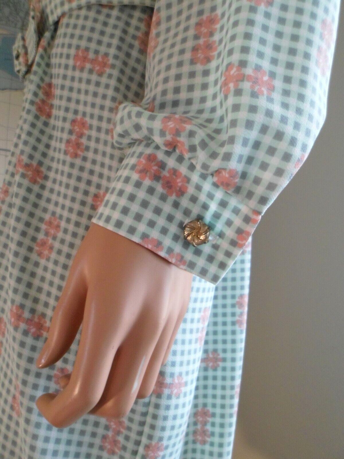 Vtg 70s Breli Originals  Belted Shirt Dress~Mint … - image 4