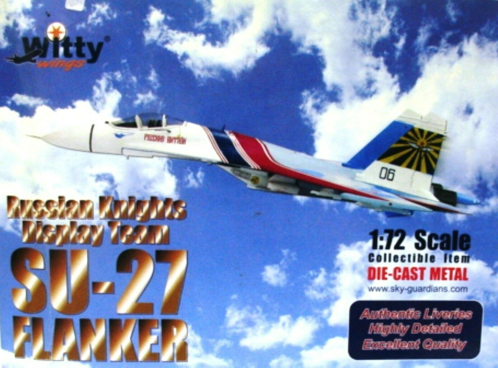 EXTRA RARE osipovič SUCHOJ Su-27 Flanker-B Knight Riders CCCP 1988 NUOVO CON SCATOLA 1 72 Witty Wings