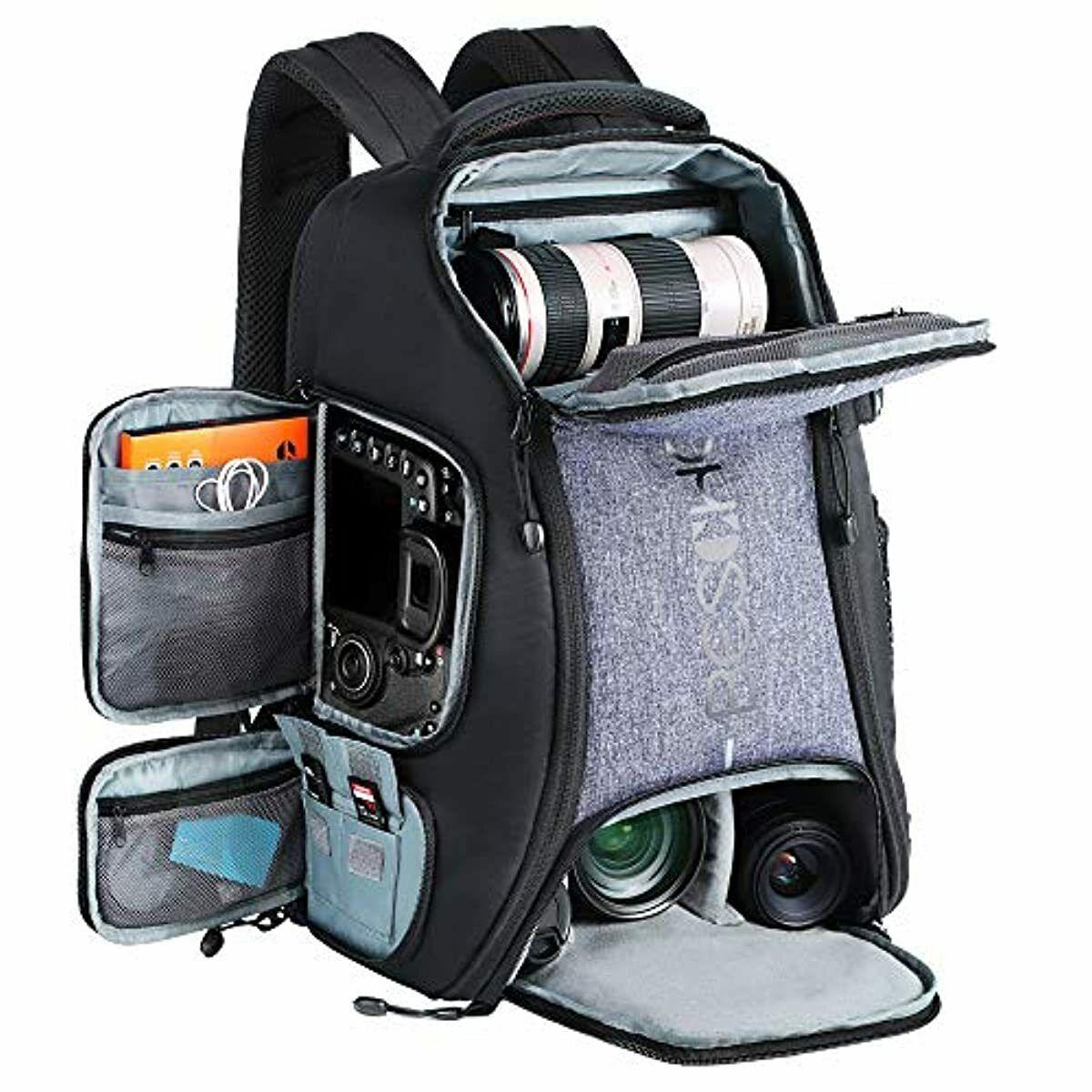Beschoi Waterproof SLR Camera Bag, 25 liters Large Capacity Rucksack with Tripod