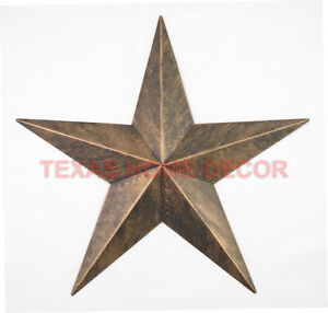 Image Is Loading 12 034 Rustic Metal Barn Star Brushed Copper